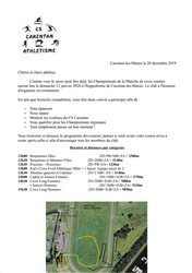CONVOCATION CHAMPIONNATS DE LA MANCHE DE CROSS 12/01/2020